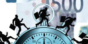 Symbolbild Staendiger Zeitdruck im Berufsalltag